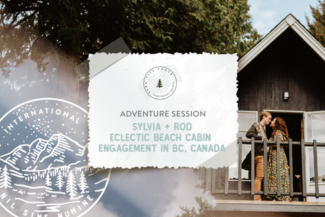 Eclectic Beach Cabin Adventure Engagement in BC, Canada