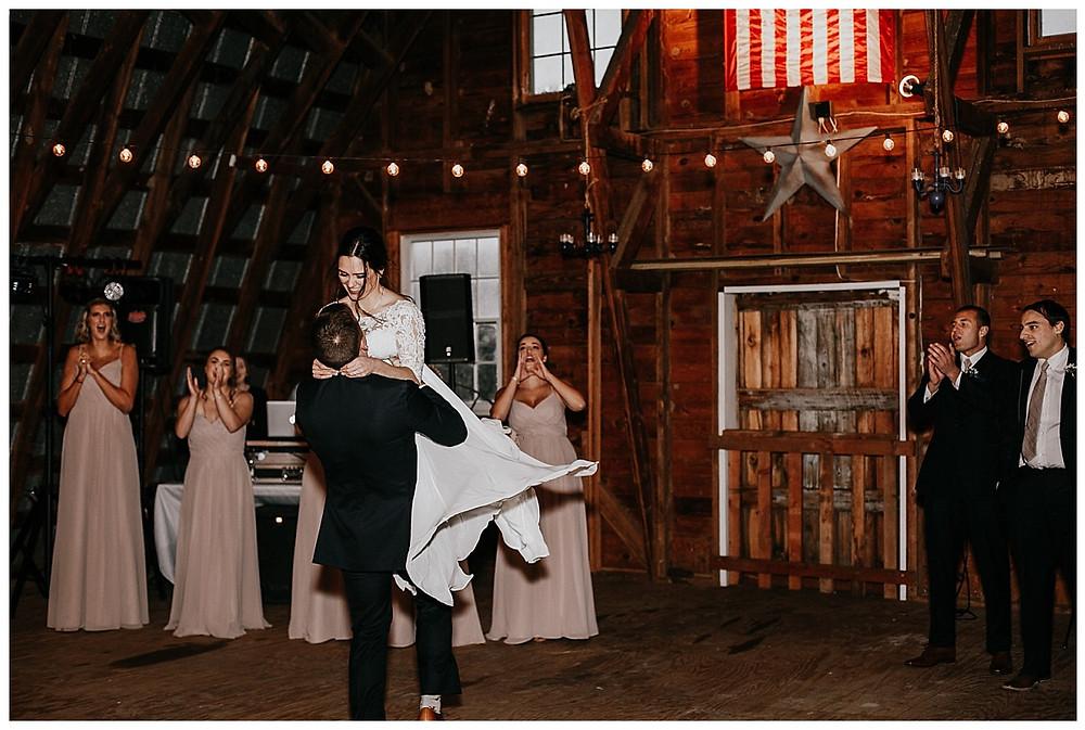 Barn Reception First Dance