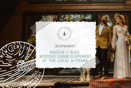 Fall Wooded Cabin Elopement at the Lokal A-Frame on Maurice River in Dorchester, NJ