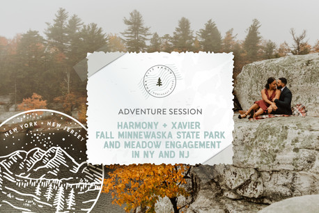 Fall Minnewaska State Park and Meadow Adventure Engagement in NY & NJ