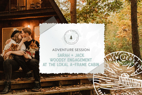 Woodsy and Eclectic Autumn Adventure Engagement at the Lokal A-Frame in Dorchester, NJ