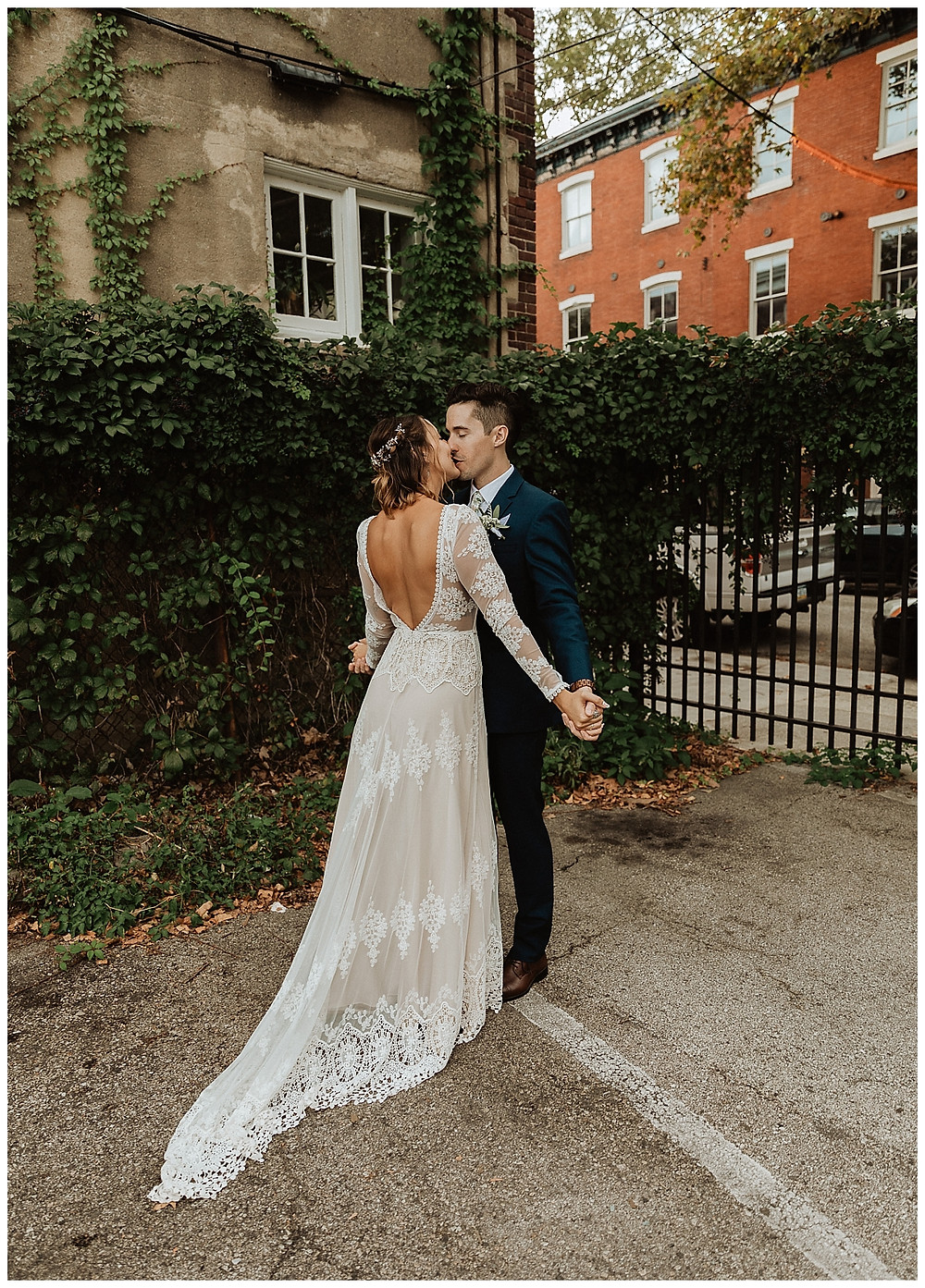 Bride & Groom Portraits, Bride in Dreamers and Lovers Dress