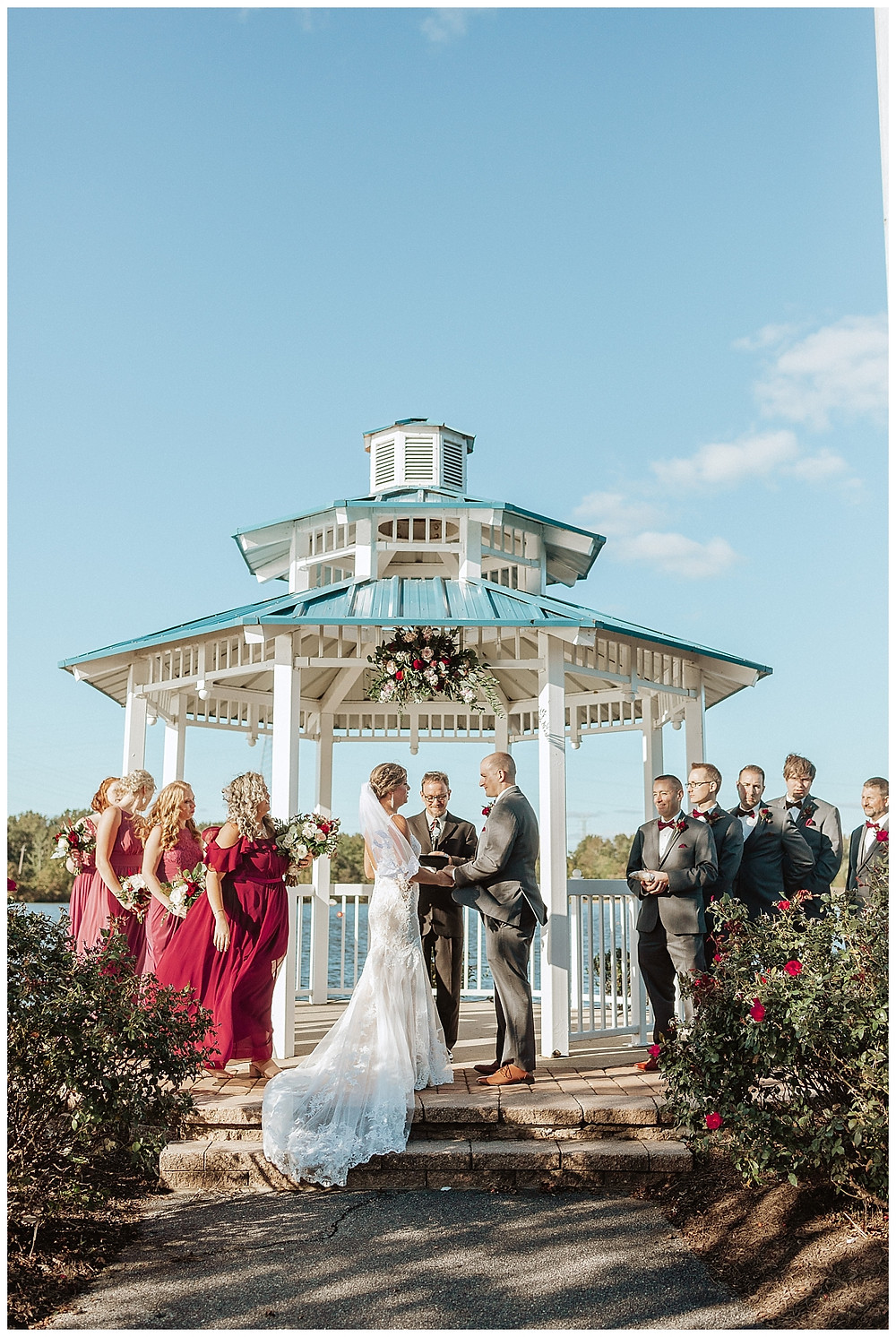 Lakeside Wedding Ceremony in Gazebo