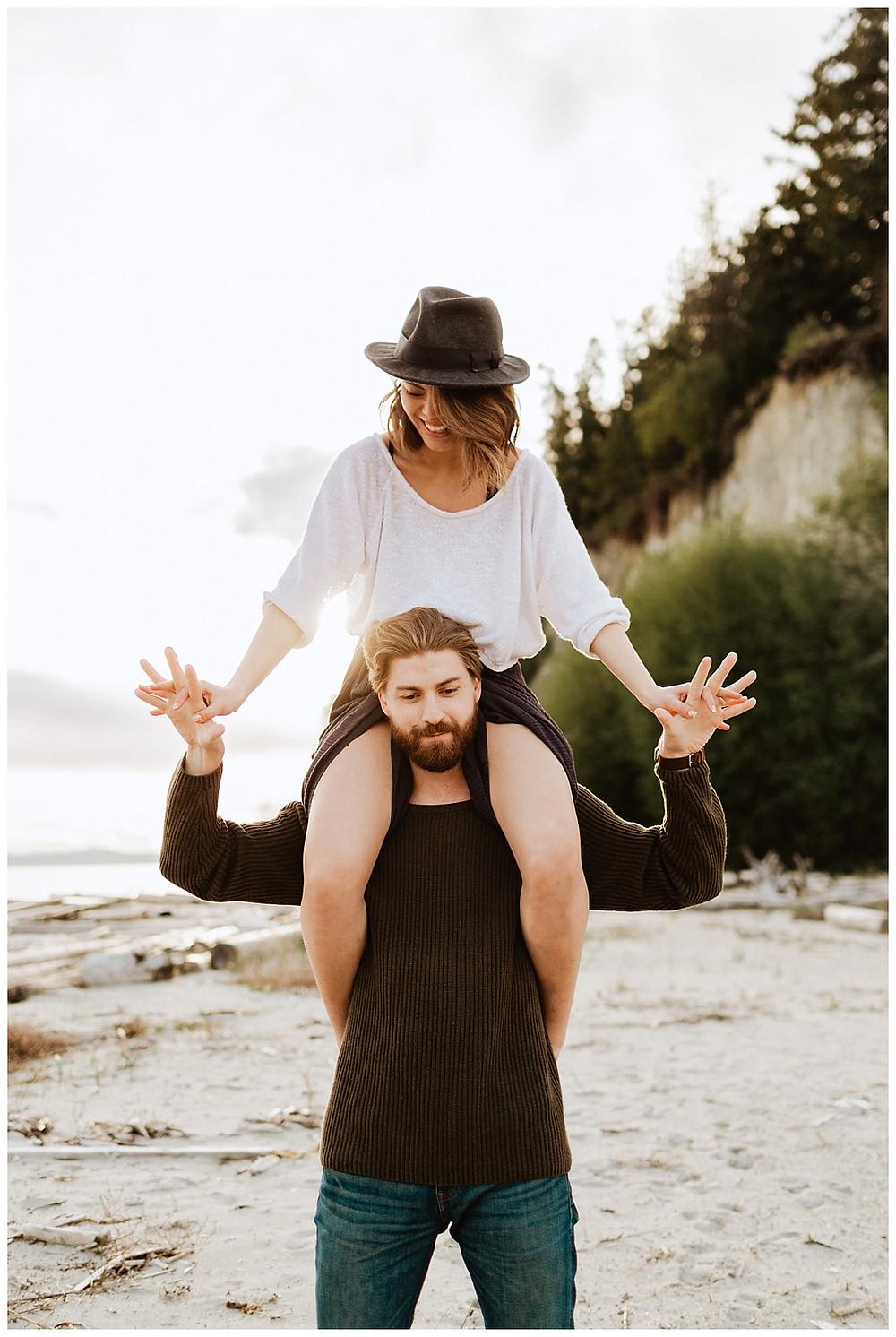 Beach Adventure Engagement in Canada