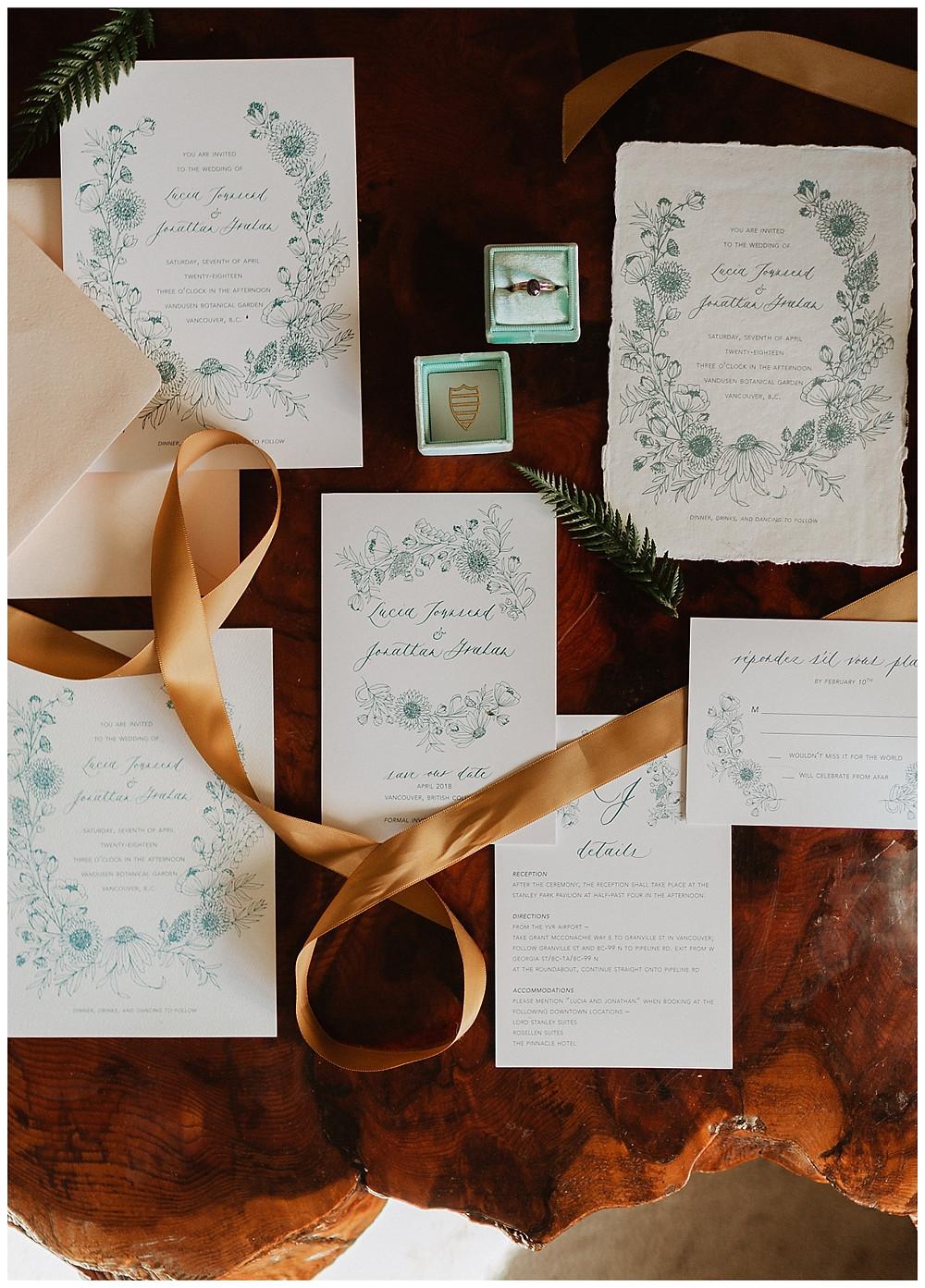 Vintage Wedding Stationary