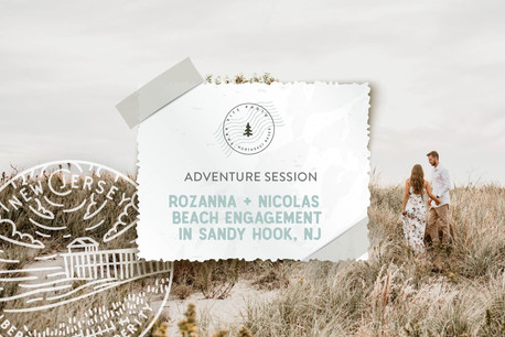 Autumn Beach Adventure Engagement in Sandy Hook and Atlantic Highlands, NJ