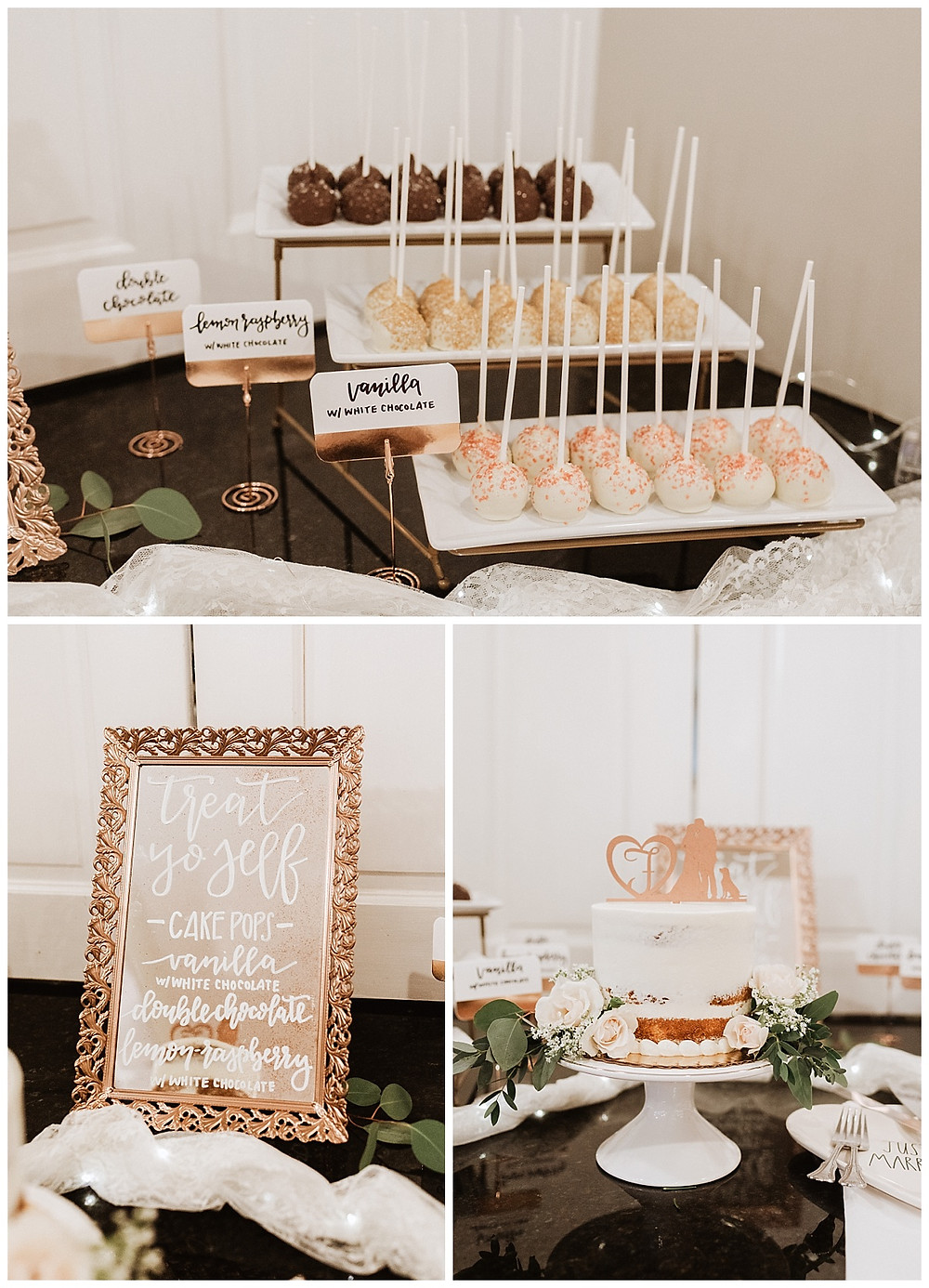 Dessert Cake Pop Bar and Wedding Cake