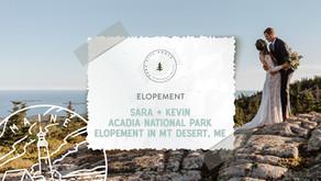 Sara + Kevin's Acadia National Park Elopement in Mt Desert, Maine