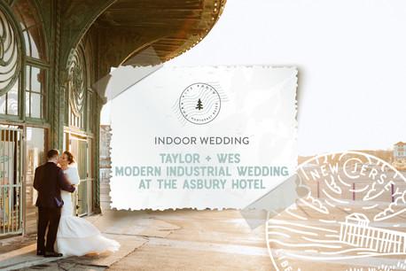 Modern Industrial Wedding at The Asbury Hotel in Asbury Park, NJ