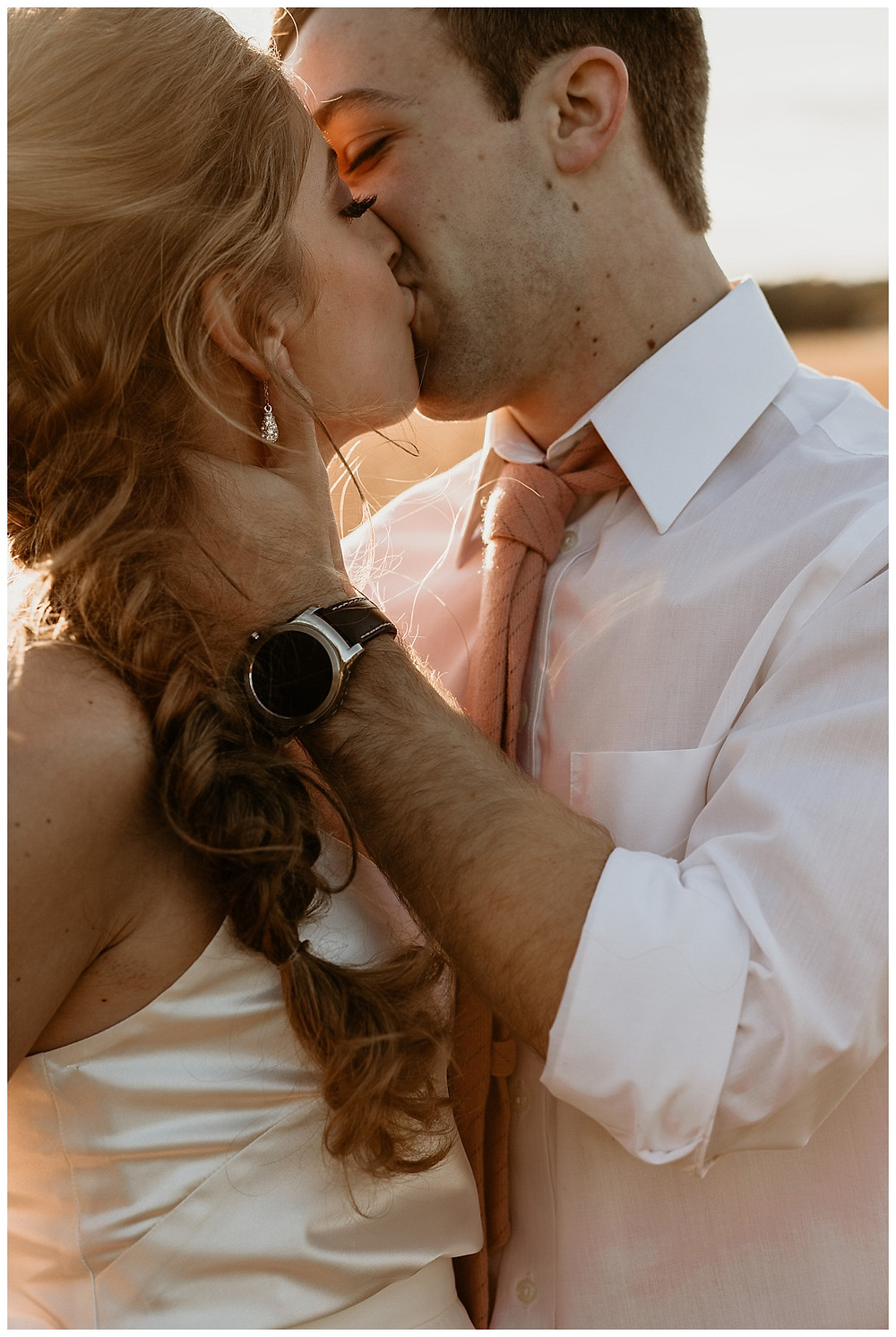 Sunset Meadow Bride & Groom Portraits