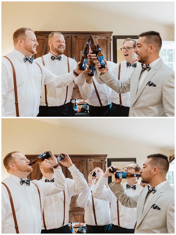 Groomsman & Groom Beer Cheers
