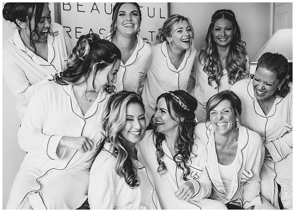 Fun Bridesmaid Group Shot