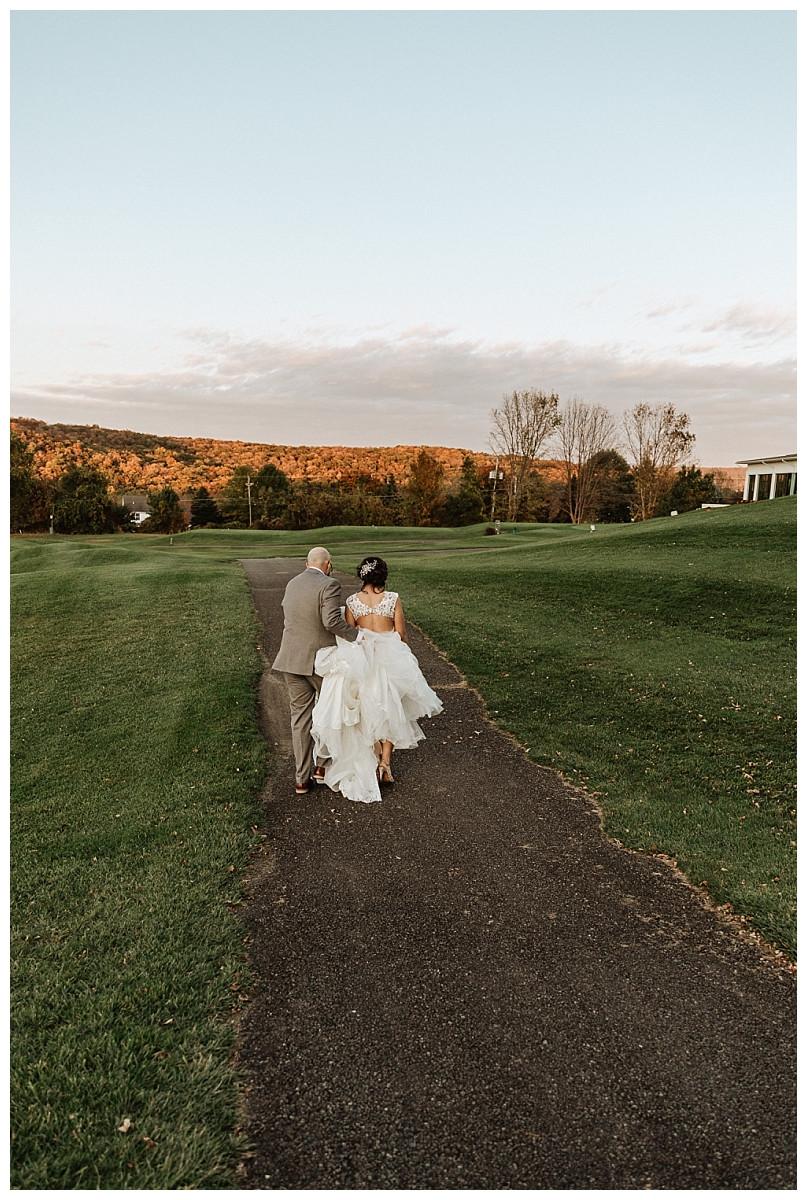 Autumn Mountaintop Bride & Groom Portraits