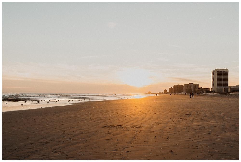 Atlantic City Beach Engagement Session