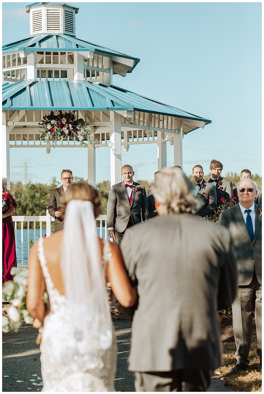 Ceremony Aisle Reaction First Look