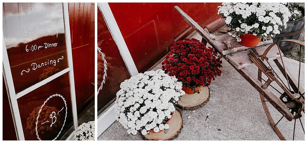 Red Barn Wedding Reception Decor