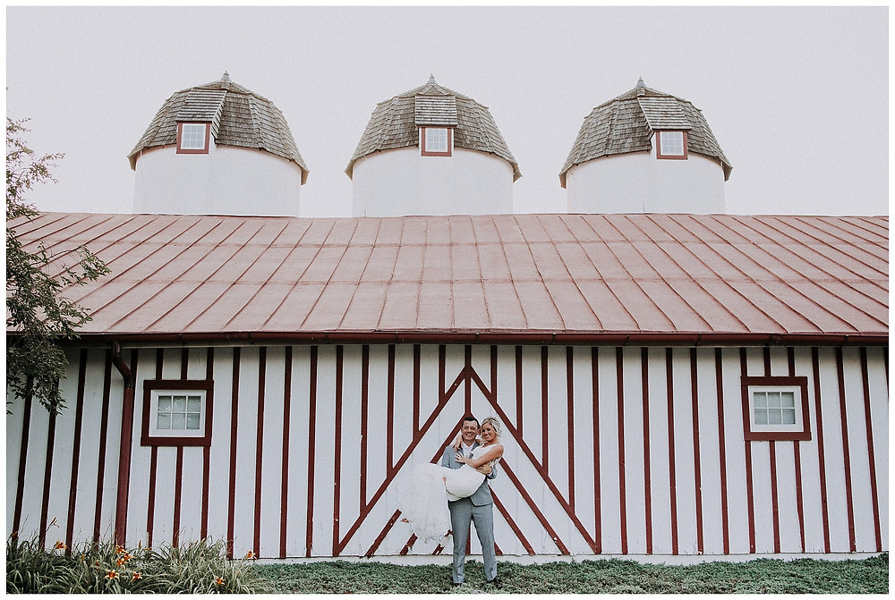Bride & Groom Barn Silo Portraits
