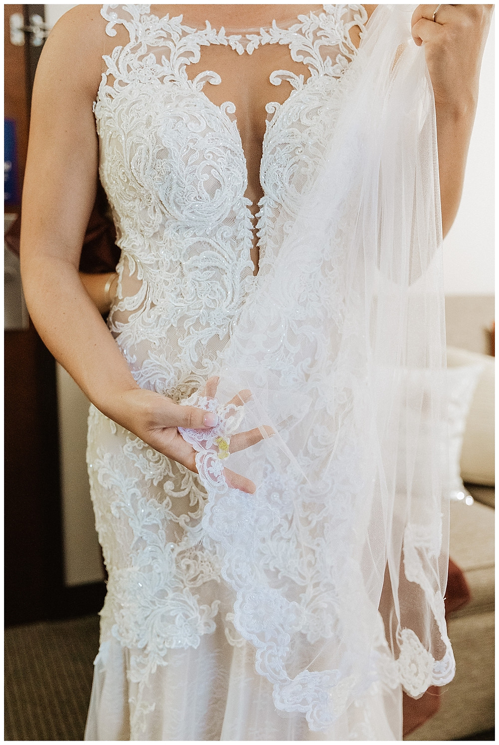 Essense of Australia Lace Wedding Dress