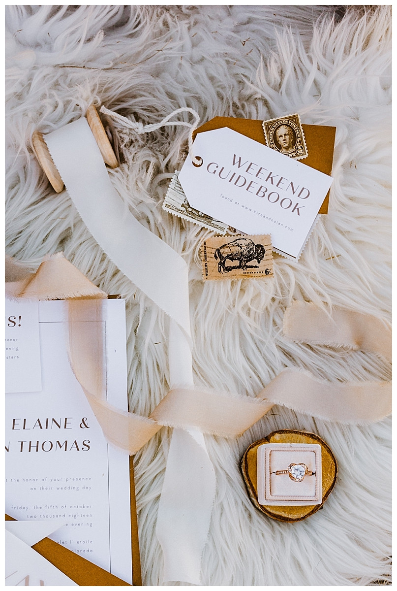 Boho Rocky Mountain Inspired Wedding Stationary
