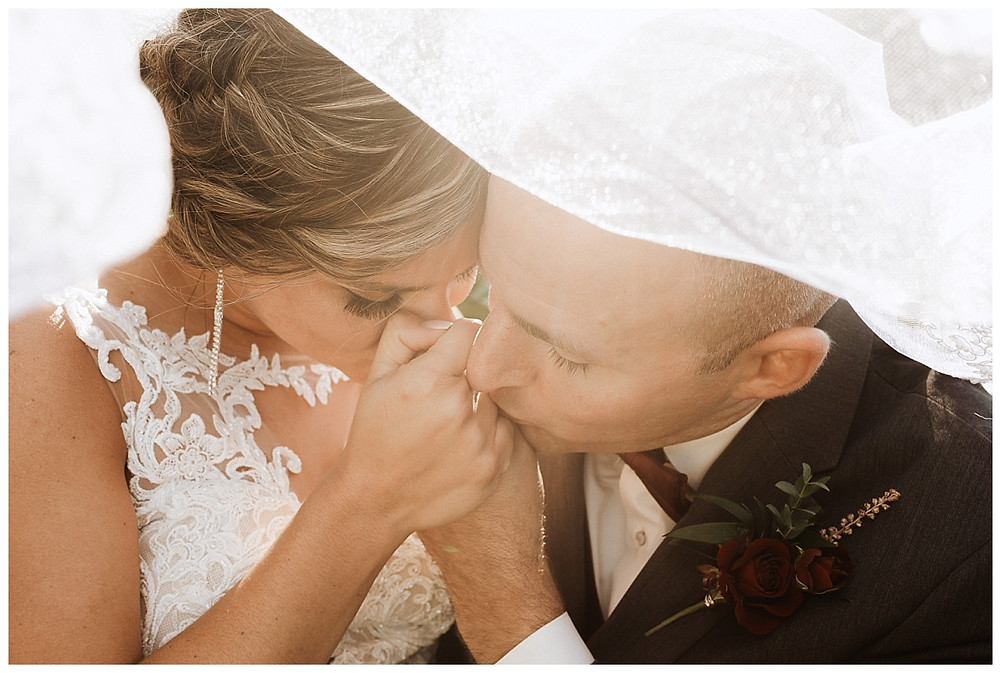 Bride & Groom Veil Portraits