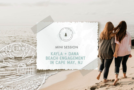 Sunset Beach Mini Engagement in Cape May, NJ