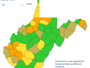Green counties continue to flourish as active cases plummet
