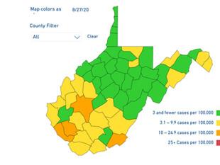 """Mingo County Now in """"Orange"""" on DHHR Metrics Map"""