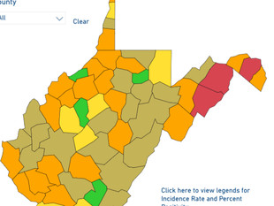 Most Counties Are Gold or Orange Today.