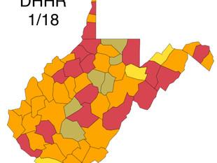 According to W.Va. DHHR, More Counties Turn Orange as Numbers Begin to Slide