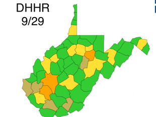 Logan is Yellow According to Update from WV DHHR