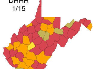 W.Va. DHHR Reported 1,400 New Cases of the Virus Friday