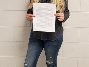 CRHS student places first in county Young Writer's contest