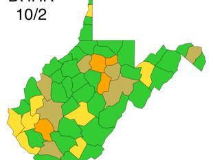 WV DHHR Map Released for Friday, Oct. 2