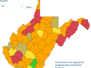 WV DHHR: 20 New Deaths, Number of Red Counties Continues to Drop