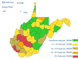 Coalfields Counties Gold, Orange and Red Ahead of New School Map Saturday