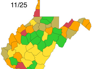 Logan County Green, According to WV DHHR Color Map.