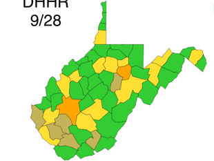 WV DHHR Update for Monday, Sept. 28