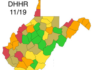 "Boone and Wayne Counties ""Red"" Today, According to WV DHHR"