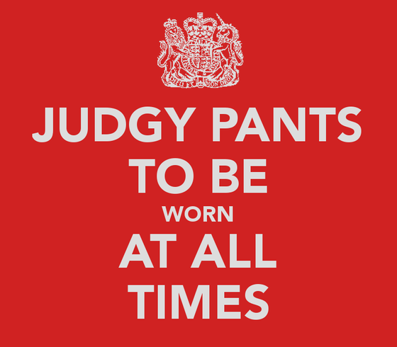 Got Your Judgy Pants On?