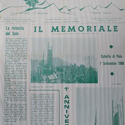 Articoli su Memoriale di Pala