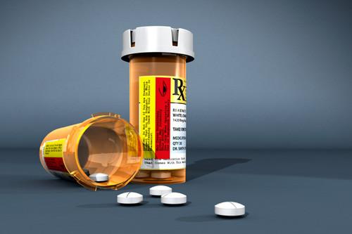 Generic prescription pill bottle (no ID)