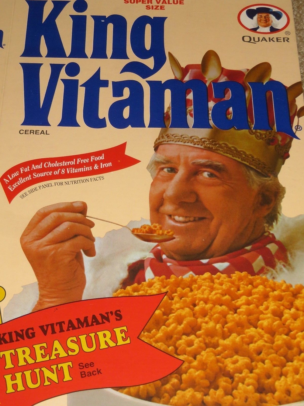 Retro King Vitamin Cereal Box