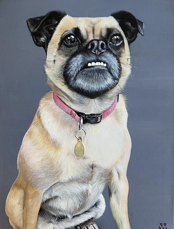 Frida. 40 x 30cm  Acrylic on Canvas