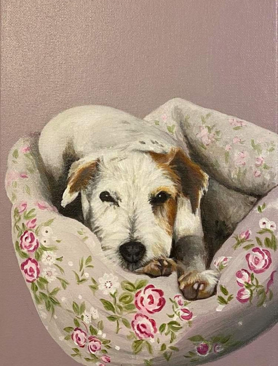 Dottie  30 x 20cm Acrylic on Canvas
