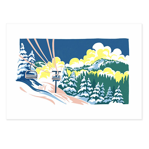 Big Red Chair Skiing print