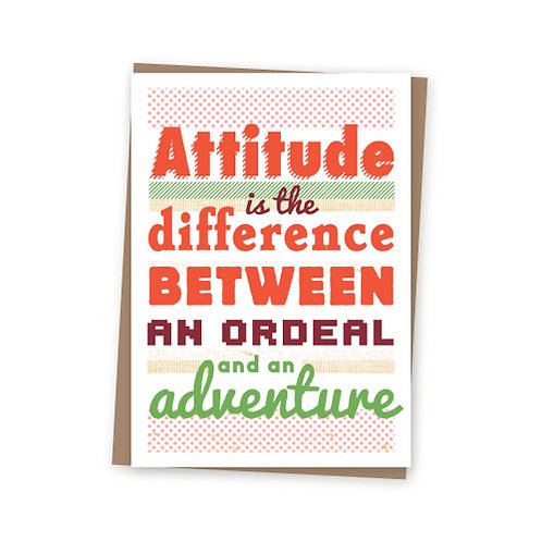 Attitude Adventure card