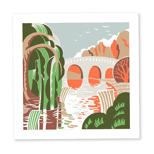 Bridge Reflections print