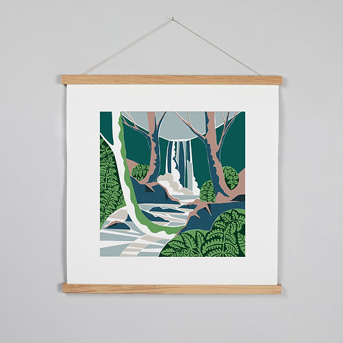 Woodland Waterfall print