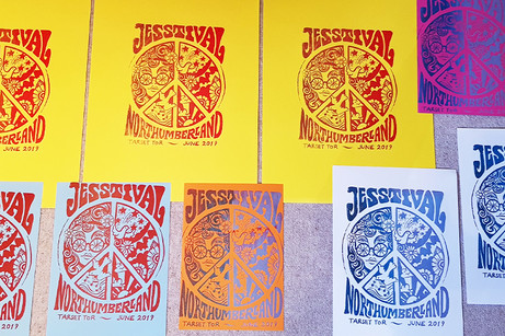 Jesstival hen party posters