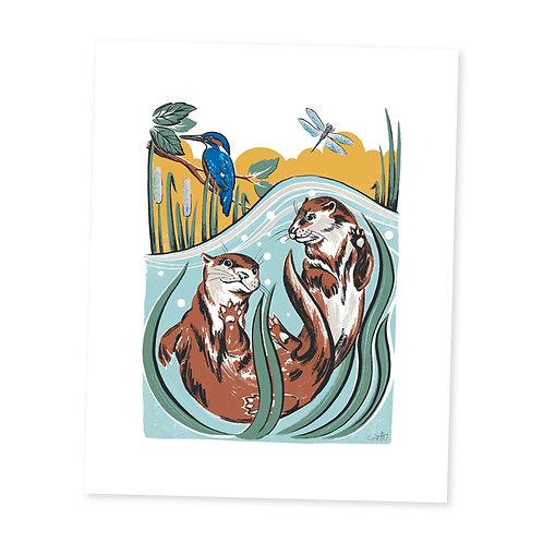 Otter Friends print